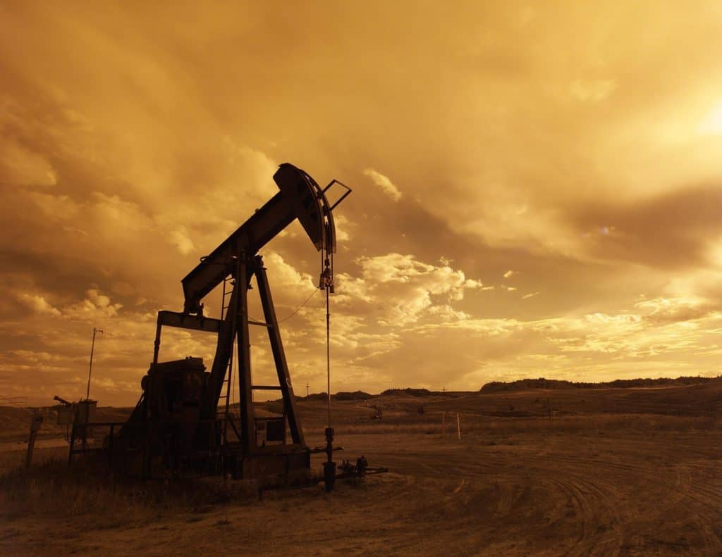 A pumpjack or nodding donkey oil rig is an example of a common non-current asset in the oil business.